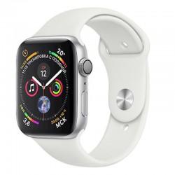 Apple Watch 40mm Series 4 White Sport Band Silver Alluminium MU642