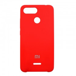Чехол-накладка Xiaomi Redmi 6 Original Soft red