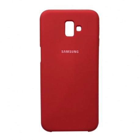 Чехол-накладка Samsung J8-2018 Original Soft Case Bordo