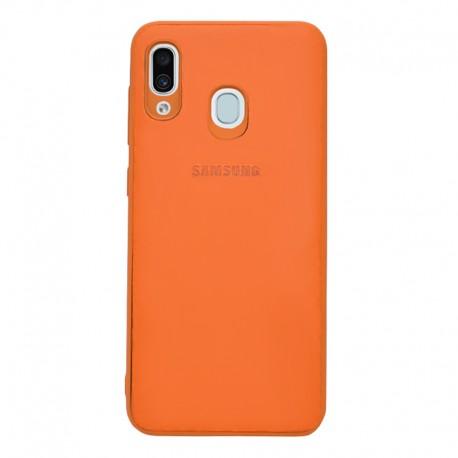 Чехол-накладка Samsung A30 Leather Orange