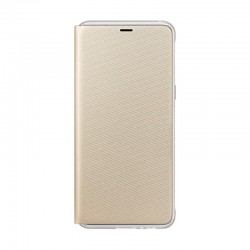 Чохол-книжка Samsung A8 2018 Neon Flip Cover EF-FA530PFEGRU Gold