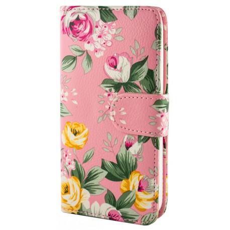 Чехол-книжка Samsung Galaxy J1 J110H Pinck flowers