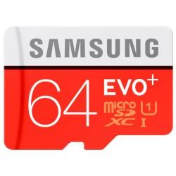 Карты памяти Micro SD Samsung 64GB Class 10 + ad EVO PLUS (MB-MC64DA/RU) R/W 80/20 Mb/s