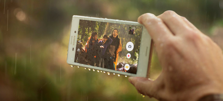 sony xperia m5 фотосъемка под дождем